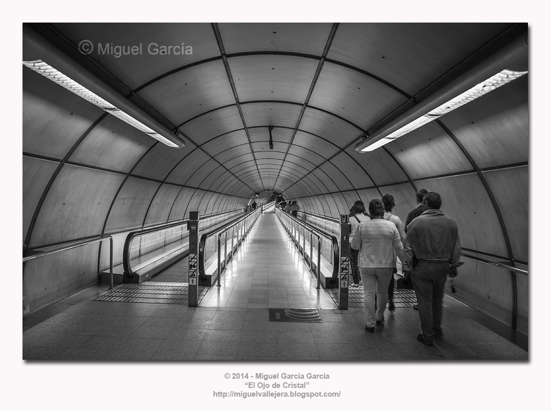 Hay luz al final del túnel. Metro de Bilbao.