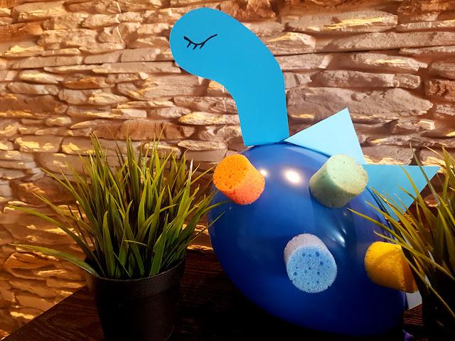 balonozaury - dinozaury z balonów- zabawa z dzieckiem - diy dla dzieci