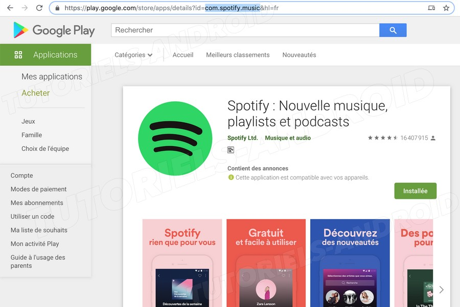 Spotify Google Play