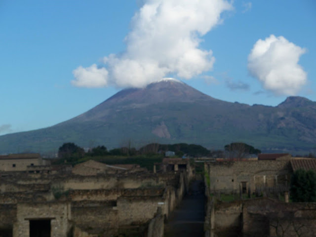 Mt. Vesuvius volcano outside Pompeii