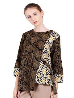 baju batik wanita modern dan elegan