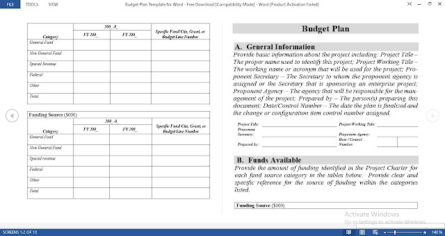 Budget Plan Template for Word - Free Download