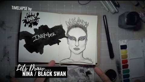 We drew Nina From Black Swan - Inktober 2018