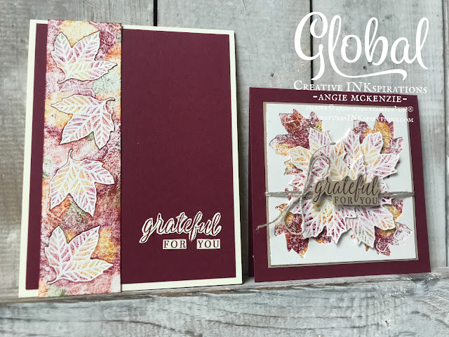 By Angie McKenzie for Global Creative Inkspirations; Click READ or VISIT to go to my blog for details! Featuring the Gathered Leaves Dies and the Beautiful Autumn Photopolymer Stamp Set from the August-December 2020 Mini Catalog; #stampinup #handmadecards #naturesinkspirations #envelopedesigns #stationerybyangie #naturecards #nature #anyoccasioncards #grateful #beautifulautumnstampset #gatheredleavesdies #cardtechniques #babywipetechnique  #fussycutting #globalcreativeinkspirations #gcibloghop #leaves #autumncards #makingotherssmileonecreationatatime