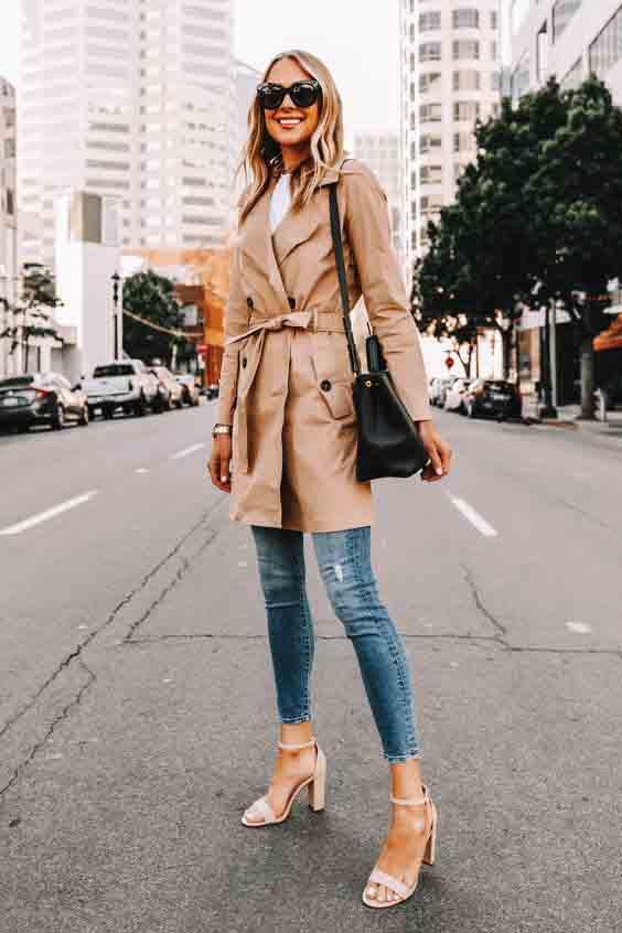 Inspirações de looks com trench coat