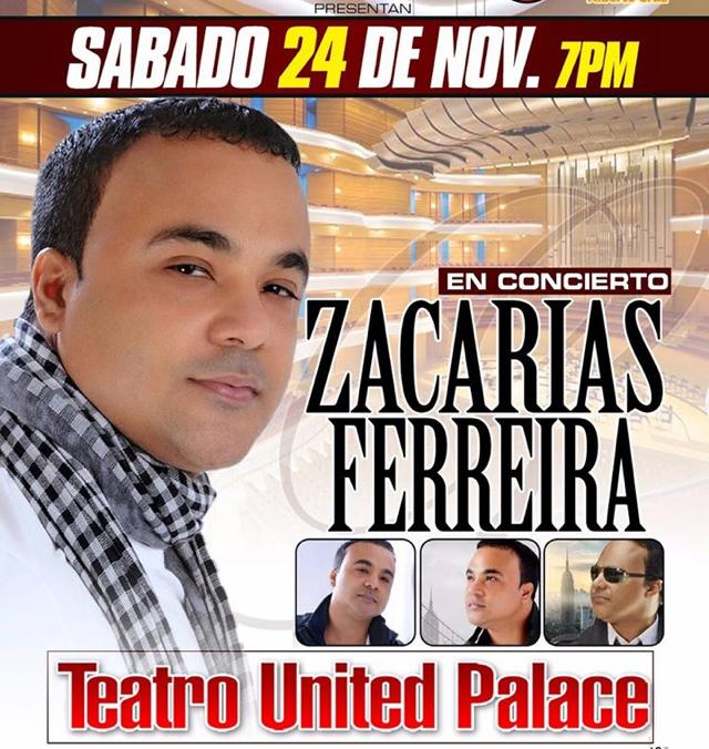 Cancelan concierto de Zacarías Ferreira en United Palace por falta de público