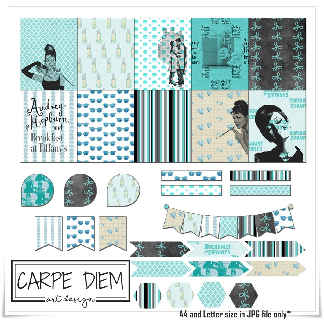 Audrey Hepburn Printable Sticker Paper with 40 classy stickers