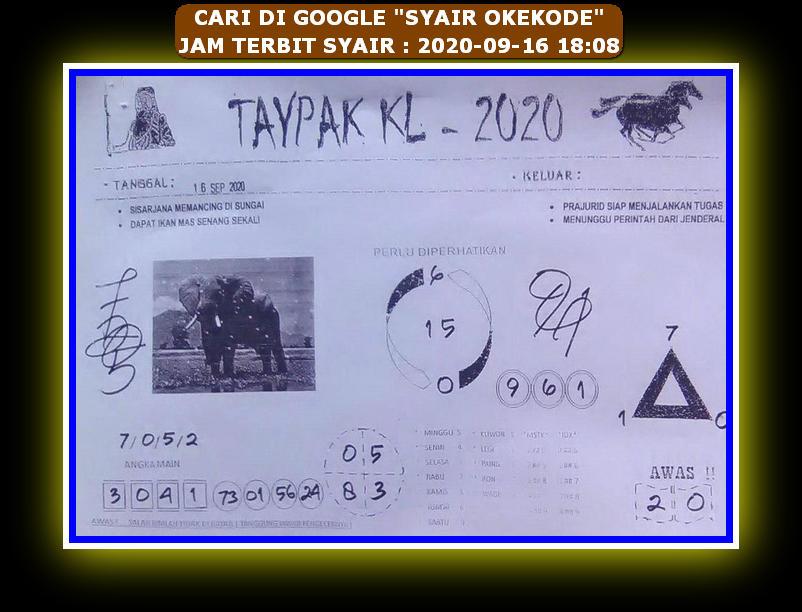 Kode syair Hongkong Rabu 16 September 2020 73