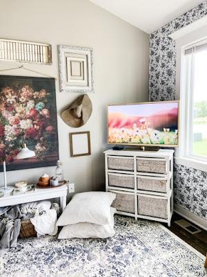 Painted tv frame tv diy