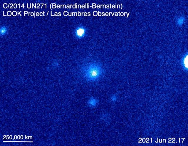 Primeira atividade no cometa Bernardinelli-Bernstein - LCO