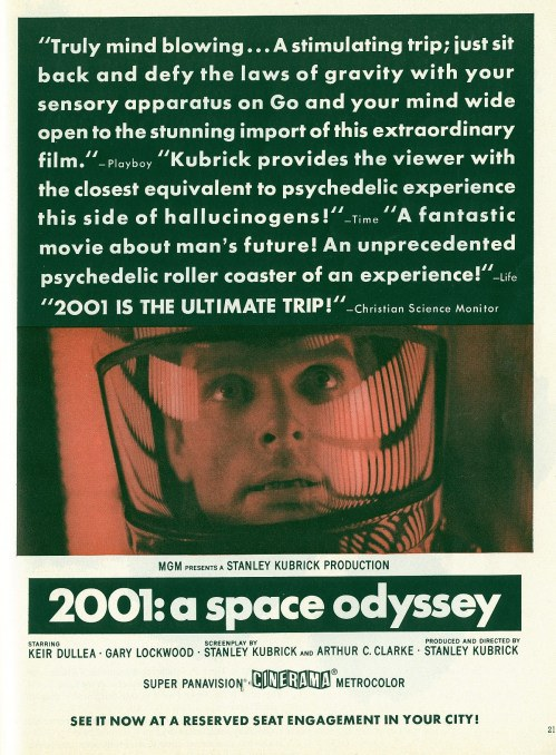 2001 Space Odyssey print ad movieloversreviews.filminspector.com