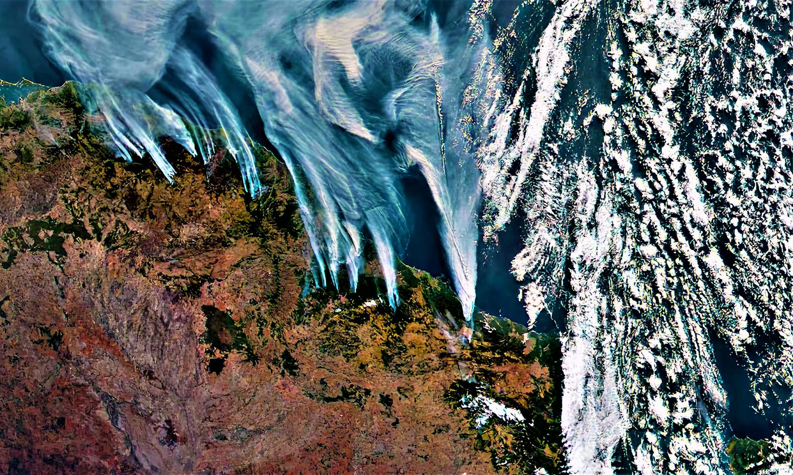 Fires in Australia.