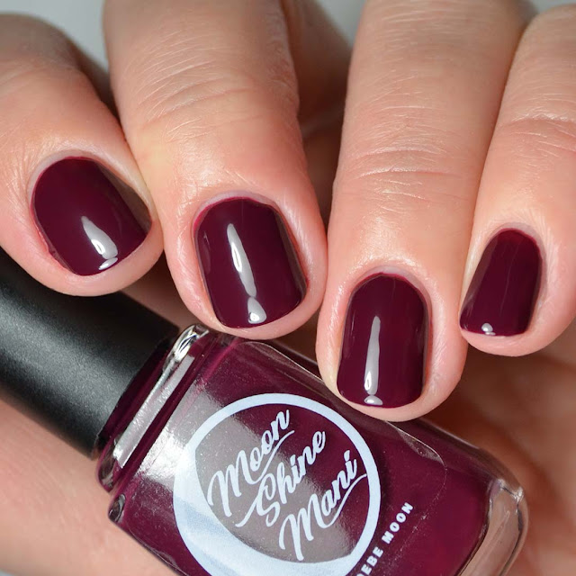 oxblood nail polish four finger swatch