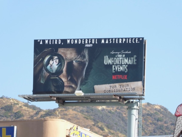Unfortunate Events season 1 Emmy FYC billboard