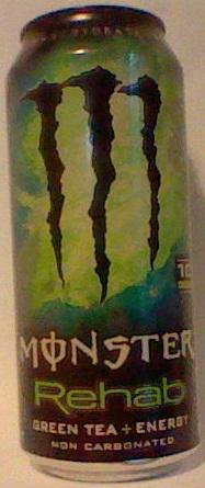 Caffeine King Monster Rehab Green Tea Energy Drink Review
