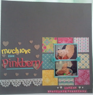 Make: A Scrapbook Page - Much Love for Pinkberry 1