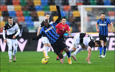 فشل انترناسيونالي ميلانو في تحقيق لقب بطل الشتاء بعد تعادله مع مضيفه اودنيزي