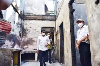 Tinjau Kebakaran Rumah di Langkat, Edy Rahmayadi Minta Pembangunan Selesai Sebelum Ramadan