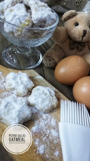 RESEP SNOW WHITE OATS MEAL COOKIES, CEMILAN SEHAT ALA SOCIAL DISTANCING