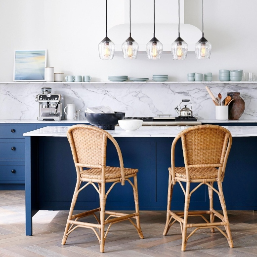 Blue Modern Kitchen Cabinets
