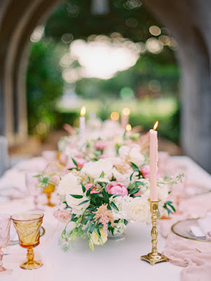 elegant centerpieces and candles