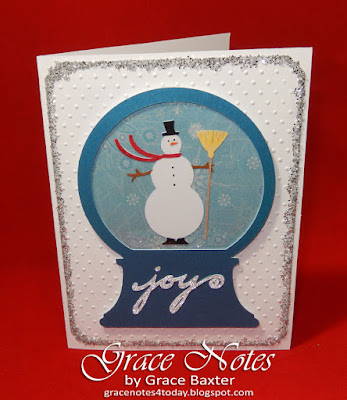 Joy Snow Globe card, by Grace Baxter