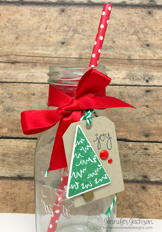 25 Days of Christmas Tags! Tree Tags by Jennifer Jackson | Festive Forest Stamp set by Newton's Nook Designs #newtonsnook