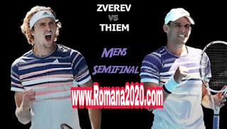 مشاهدة مباراة دومنيك ثيم ضد الكسندر زفريف ضمن نصف نهائي بطولة أستراليا المفتوحة التنس