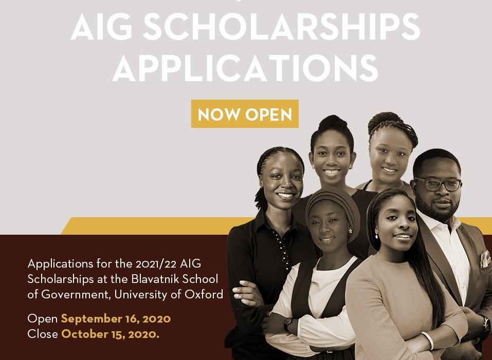 Africa Initiative for Governance (AIG) Masters Scholarships 2021