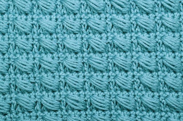 3 - Crochet Imagen Puntada conbinada con punto puff 2 a crochet y ganchillo por Majovel Crochet