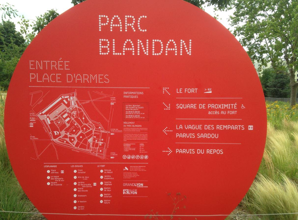 Plan parc Blandan