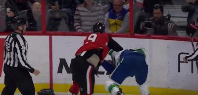 hockey nhl vancouver ottawa fight