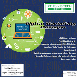 Digital Marketing Manager di PT FandB Tech Indonesia