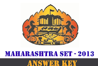 Maharashtra SET Answer key 2013