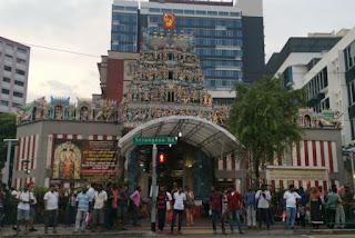 Barrio Indio o Little India, Singapur. Sri Veermakaliammam.