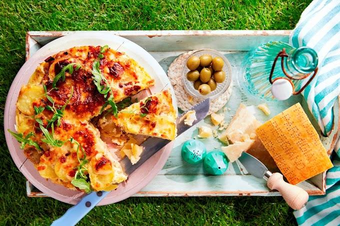Frittata de Parmigiano Reggiano y patatas
