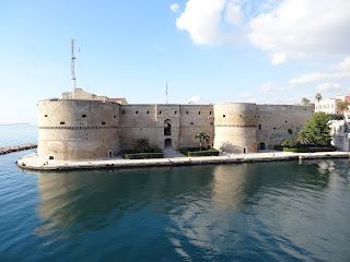 The Castello Aragonese is a landmark in Taranto