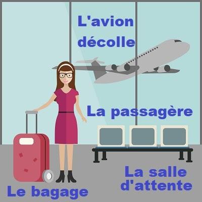 Na lotnisku - słownictwo 4 - Francuski przy kawie
