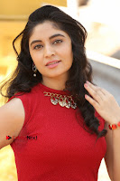 Telugu Actress Zahida Sam Latest Pos in Red Gown at RF Films New Movie Opening  0023.JPG
