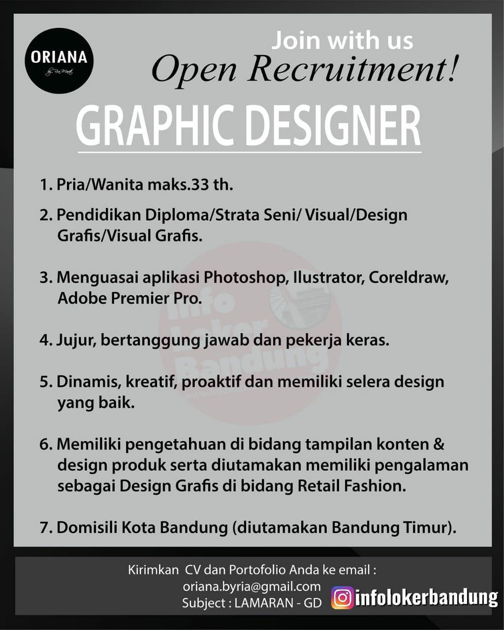 Lowongan Kerja Graphic Designer Oriana Boutique & Scarves Bandung Oktober 2019