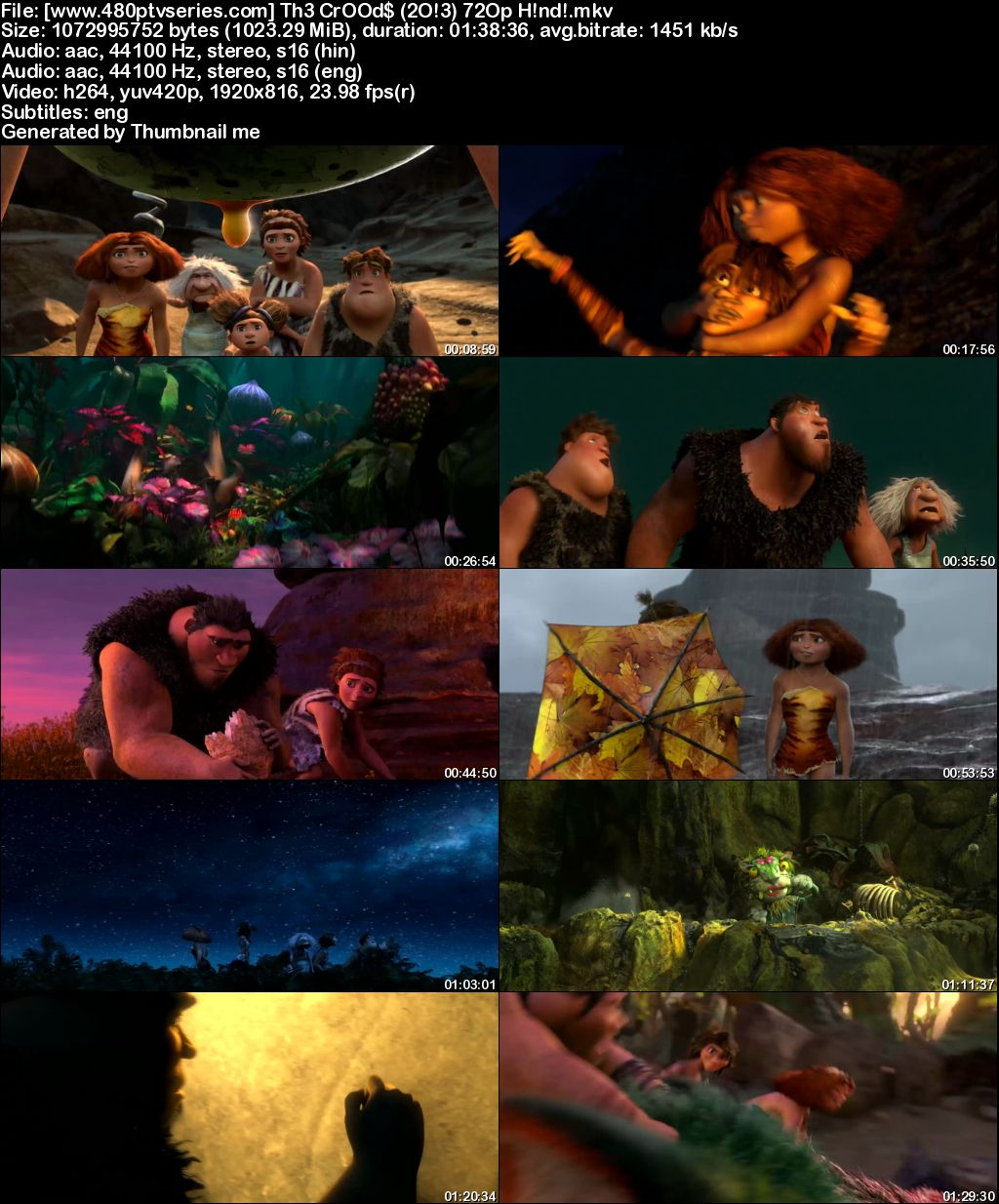 Watch Online Free The Croods (2013) Full Hindi Dual Audio Movie Download 480p 720p Bluray