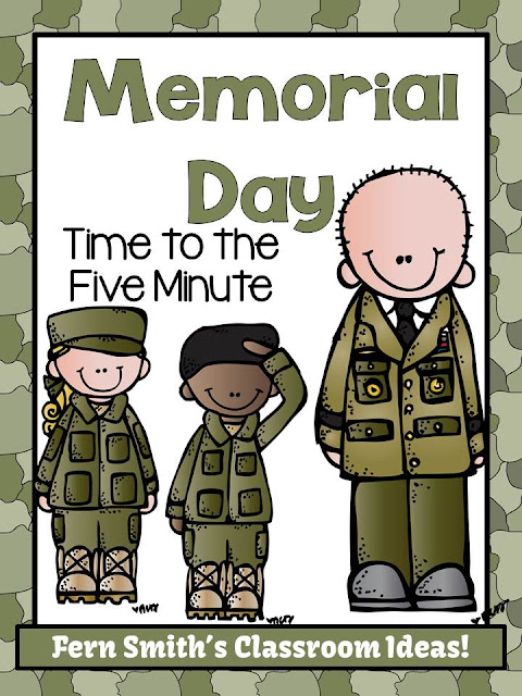 Fern Smith's Classroom Ideas Memorial Day Themed Time to the Five Minute Go Fish, Old Maid, Concentration FREEBIE.