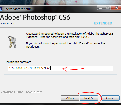serial key of photoshop cs6