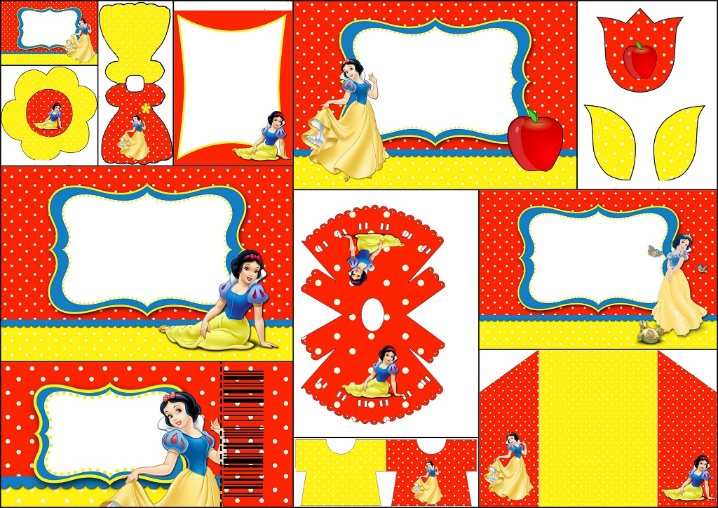 picture regarding Snow White Invitations Printable called Snow White: Absolutely free Printable Invites, Labels or Playing cards
