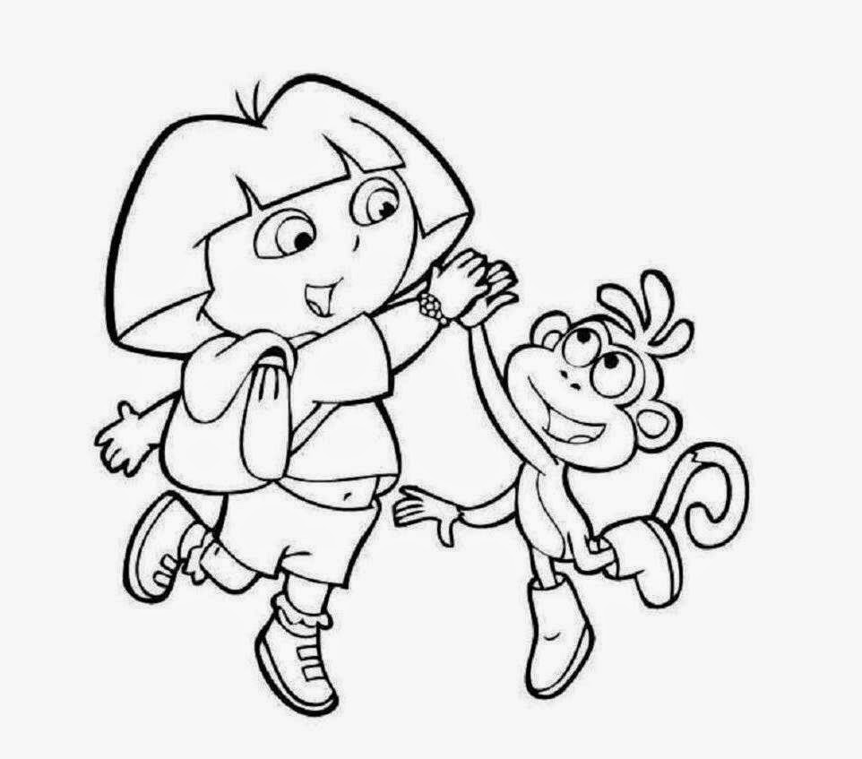 Colour drawing free hd wallpapers dora and boots coloring for Dora and boots coloring page