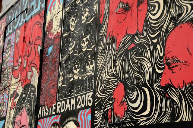 details of street art piece by broken fingaz in amsterdam 2