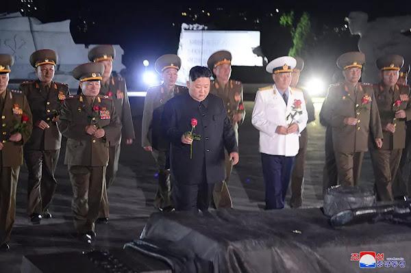 Kim Jong Un pays tributes to Fatherland Liberation War martyrs