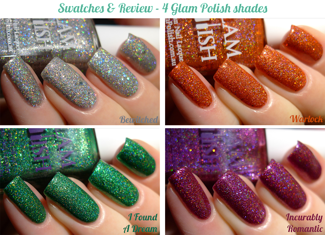 Glam Polish swatches and review 4 shades