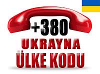 +380 Ukrayna ülke telefon kodu