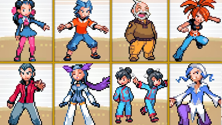 Pokémon Ruby e Sapphire Líderes